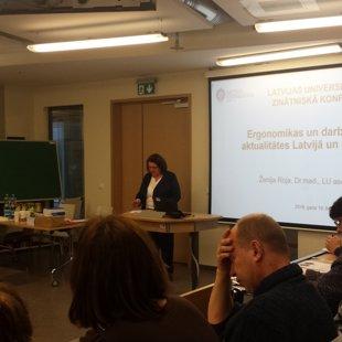 """74. Latvijas Universitātes zinātniskā konference, sekcija """"Ergonomika un darba vide"""""""